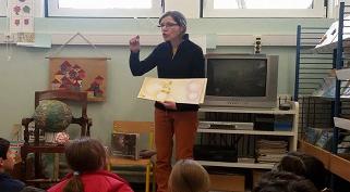 A escritora e ilustradora Nídia Nair visitou a Escola Branca