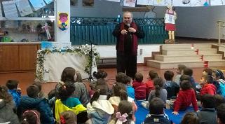 Visita do escritor José Fanha ao Agrupamento de Escolas de Caranguejeira-Santa Catarina da Serra