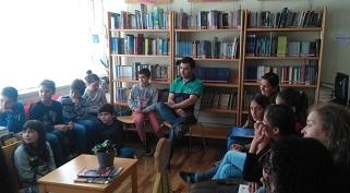 Encontro com pais na BE do Agrupamento de Escolas Caranguejeira – Sta Catarina da Serra