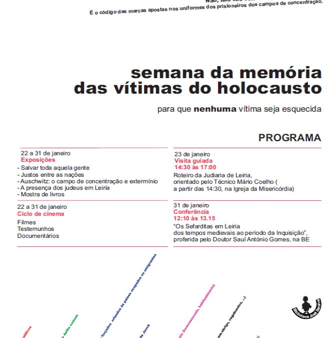 Programa da Semana em Memória das Vítimas do HolocaustoI EB 2,3 José Saraiva
