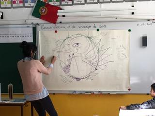 Visita da ilustradora Alexandra Gonçalves