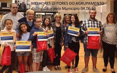 Município distingue Melhores Leitores do Agrupamento de Escolas Domingos Sequeira