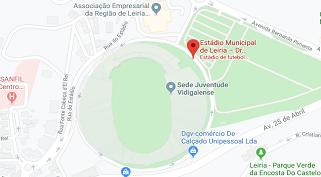 Mapa do Estádio Municipal Dr. Magalhães Pessoa