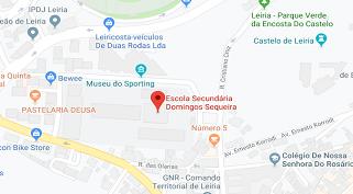 Mapa da Escola Secundária Domingos Sequeira