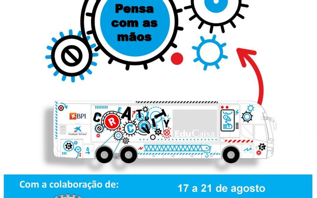 CREACTIVITY BUS chega à Praia do Pedrogão no dia 17 de agosto