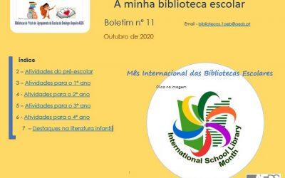 Novo Boletim  Digital do serviço de bibliotecas do 1ºciclo do AEDS