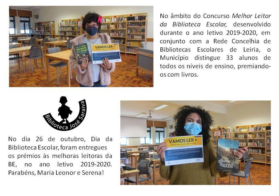 Melhores leitoras da BE José Saraiva