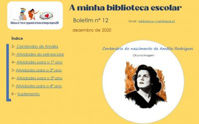 Boletim nº12 das bibliotecas do Pré-Escolar e 1ºciclo do AEDS