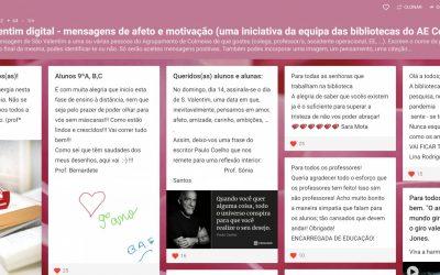 Dia de São Valentim digital no AE Colmeias