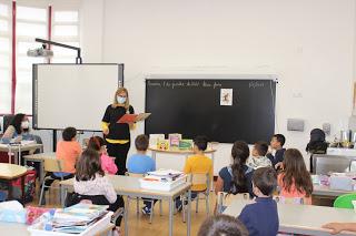 No Dia Mundial da Criança… sessão de animação de leitura com os alunos do 2.º A e B, do Centro Escolar